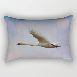 Radiant Swan! Rectangular Pillow