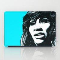 tina iPad Cases featuring Tina Turner by ChrisGreavesArt