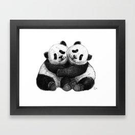 Panda's Hugs G143 Framed Art Print