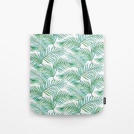 Palm Leaves_Bg White Tote Bag