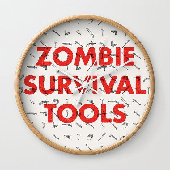 Zombie Survival Tools - Pattern 'o tools Wall Clock