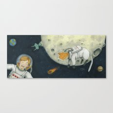 Let's play astronauts! Canvas Print