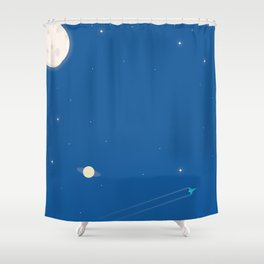 Rocket #2 Shower Curtain
