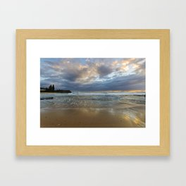 Reflections on the shore  Framed Art Print