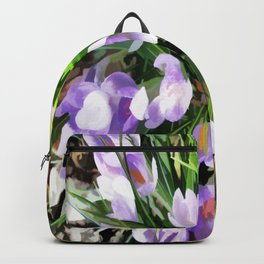 Soft Painterly Crocuses Backpack