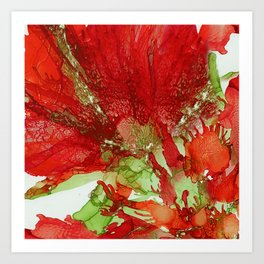 Exotic Red Flower Art Print