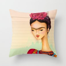 Icons / Frida Throw Pillow