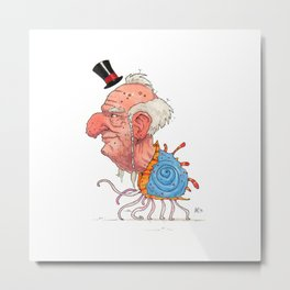 The Old Walking Seashell Aristocrat - giclée print Metal Print