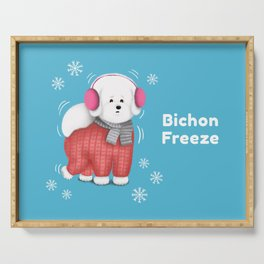 Bichon Freeze Serving Tray