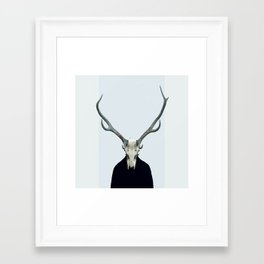 Living Skull and Horns Framed Art Print
