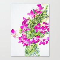 singapore Canvas Prints featuring Singapore Orchids by marlene holdsworth