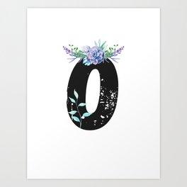 Letter O - Botanical English Alphabet, Name Initial Art Print