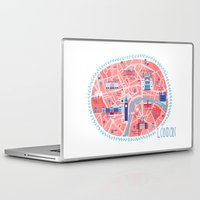 london map Laptop & iPad Skins featuring London Map by Emily Golden