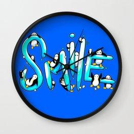 Smile Penguin Wall Clock