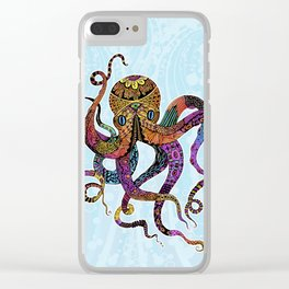 Electric Octopus Clear iPhone Case