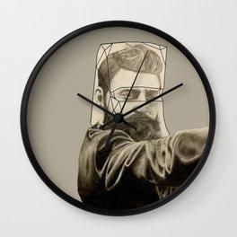 Man behind the Mask Wall Clock