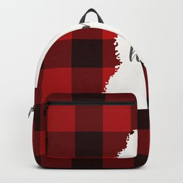 Mississippi is Home - Buffalo Check Plaid Backpack