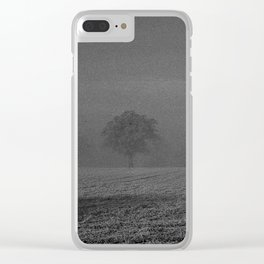 Foggy tree Clear iPhone Case