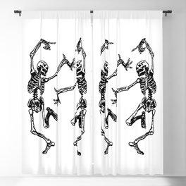 Duo Dancing Skeleton Blackout Curtain