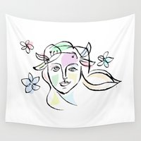 goddess Wall Tapestries featuring Goddess by G_Stevenson