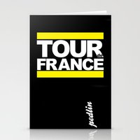tour de france Stationery Cards featuring Tour de France by Pedlin