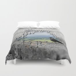 Cracked Up View Duvet Cover
