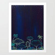 Night Jungle Darkness Art Print