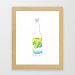 I Love You Corona Light - Ode to Summer Beach Beers Series Framed Art Print