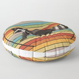 Raccoon Colorful Floor Pillow
