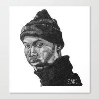 rap Canvas Prints featuring Rap God by ZARE