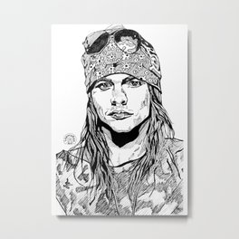 Axel Rose Portrait Metal Print