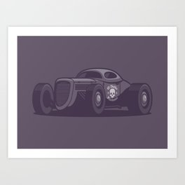 GAZ GL1 Custom Vintage Hot Rod Classic Street Racer Car - Black Art Print