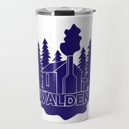 Walden - Henry David Thoreau (Blue version) Travel Mug