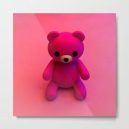 Pink Little Bear Metal Print