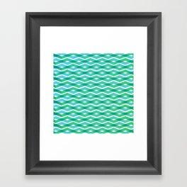 Diamonds in the sea Framed Art Print