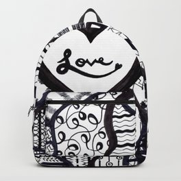 Free Hand Drawn Love Pattern Backpack