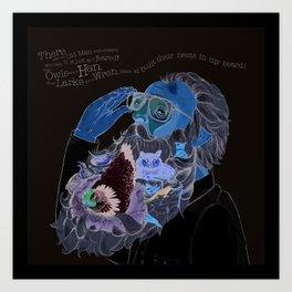 Old Man With a beard Art Print