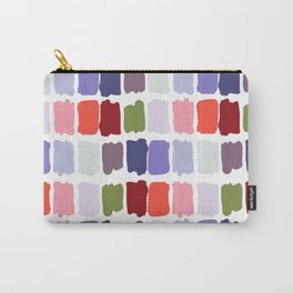 Artistic colorful watercolor paint brushstrokes palette Carry-All Pouch