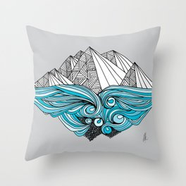 In the Shadow of the Glacier Throw Pillow