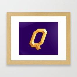 The Queen Logo Framed Art Print