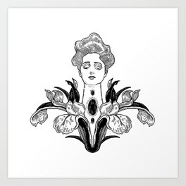 Lady garden Art Print