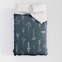 Wildflowers Pattern 2 - Petrol Blue Comforters