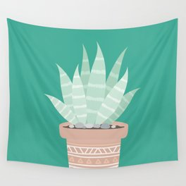 Cactus Suculents Plants Wall Tapestry