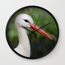 White stork Wall Clock