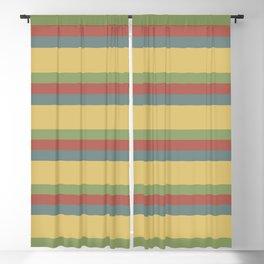 colorful autumn pattern horizontal stripes Blackout Curtain