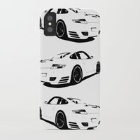 porsche iPhone & iPod Cases featuring Arctic Porsche by deadfish