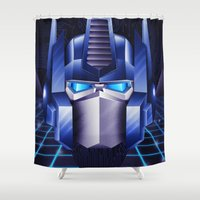 optimus prime Shower Curtains featuring Prime by doaly