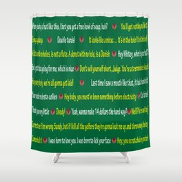 Caddyshack Quotes Shower Curtain