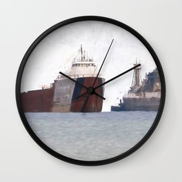 Great Lakes Freighters Wall Clock