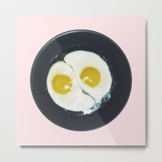Yin-yang breakfast Metal Print